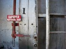 Gas natural del peligro Imagen de archivo