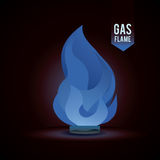 Gas natural design Stock Photography