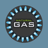 Gas natural design Royalty Free Stock Photography