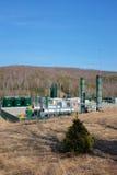 Gas natural que recolecta la estación Fotos de archivo