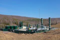 Gas natural que recolecta la estación Imágenes de archivo libres de regalías