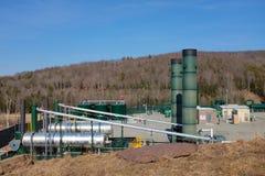 Gas natural que recolecta la estación Fotografía de archivo libre de regalías