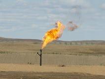 Gas natural que señala por medio de luces fotografía de archivo