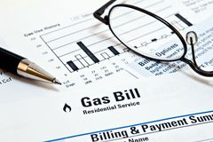 Gas naturale Bill Fotografia Stock Libera da Diritti