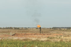 Gas naturale scintillante Fotografie Stock