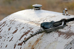 Gas nozzle on drum royalty free stock image