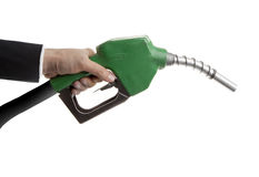 Gas Nozzle in Hand Stock Photos