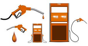 Gas nozzle pointing Royalty Free Stock Photo