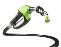 Gas nozzle pump with knot and drop. Stock Photo