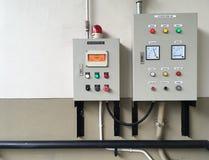 Gas och LPG-sprejflaskakontrollbord Fotografering för Bildbyråer