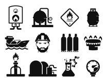 Gas och olja royaltyfri illustrationer