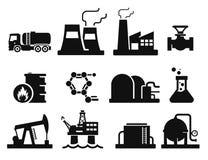 Gas och olja vektor illustrationer