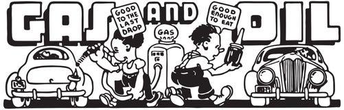 Gas och olja 5 stock illustrationer