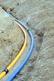 Gas och waterpipes Royaltyfri Bild