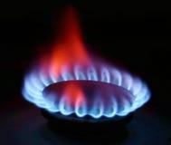 Gas-Ofen-Flamme Lizenzfreies Stockbild