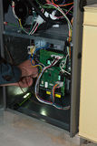 Gas-Ofen-Reparatur-Ausgangswartung Lizenzfreies Stockbild