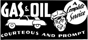 Gas And Oil A Complete Service Royalty Free Stock Photos