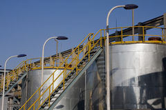 Gas & oil fuel storage tanks Stock Photography