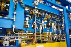 Gas-oil heat exchanger. Aggregate unit Stock Image