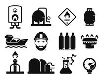 Gas and Oil. Icons set 03 royalty free illustration