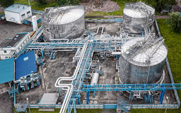 Gas and oil industrial. From aerial view Stock Image