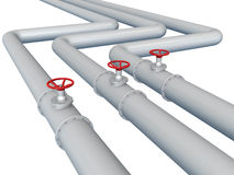 Gas or oil pipeline Royalty Free Stock Photo