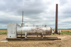 Gas and oil production facilities. In eastern Colorado - tank separator Stock Photography
