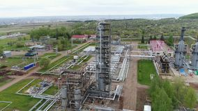 Gas and Oil Refinery Factory Area Panoramic View