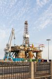 Gas and oil rig platform in the port of Tenerife Royalty Free Stock Images