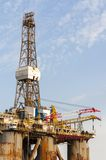 Gas and oil rig platform in the port of Tenerife Stock Photography