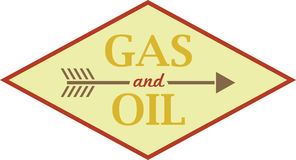 Gas & Oil Sign Stock Images