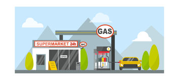 Gas oil station vector. Oil tank in cargo service terminal. Piping factory power system fuel storage gas oil station steel chemical pump sign. Petroleum Stock Photography