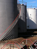 Gas and Oil Storage Depot. Some of the storage tanks at a fuel storage depot Royalty Free Stock Photo