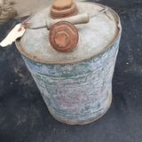 Vintage gas can. Gas oil vintage tin metal can pot royalty free stock image
