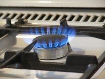 Gas op een hotplate voor het buigen Stock Afbeeldingen