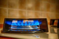 Gas op Keuken royalty-vrije stock afbeelding