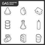 Gas outline isometric icons. Vector illustration, EPS 10 Stock Image