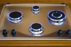 Gas oven. Indoor gas oven royalty free stock photos