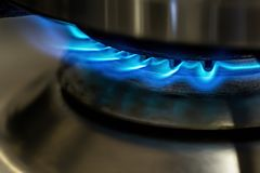 Gas oven flame Royalty Free Stock Photo