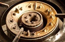 Gas oxidado de la estufa Imagen de archivo libre de regalías
