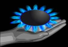 Gas on the palm Royalty Free Stock Images