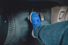The gas pedal brake pedal Stock Photography