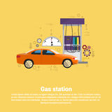 Gas Petrol Station Automobile Service Web Banner Royalty Free Stock Photography