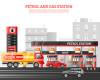 Gas And Petrol Station Illustration Royalty Free Stock Images