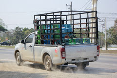 Gas Pickup truck of Picnic ( Orchid ) gas Royalty Free Stock Photography