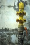 Gas Pipe. Yellow Gas Pipe Stock Images