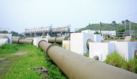 Gas pipe line. At day Stock Photos