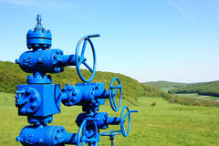 Gas pipe line Stock Image