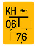 Gas pipe sign Royalty Free Stock Photos