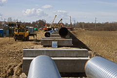Gas pipeline Stock Photo